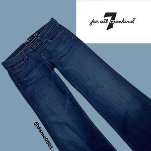 NWOT 7 For All Mankind Dojo Dark Wash Flare Jeans